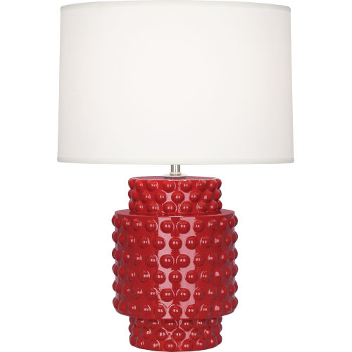 Dolly Ruby Red Glazed Textured Ceramic One-Light Accent Lamp