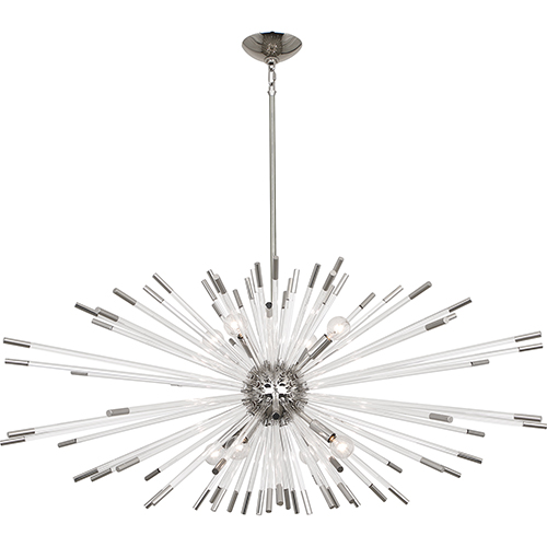 Andromeda Polished Nickel  45-Inch Eight-Light Chandelier