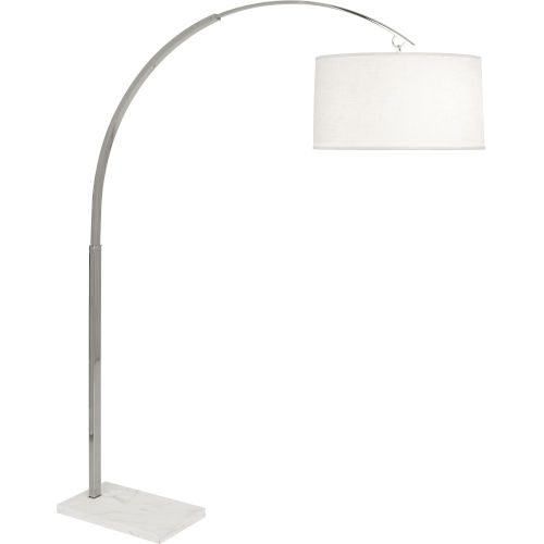 Archer Polished Nickel Two-Light Floor Lamp