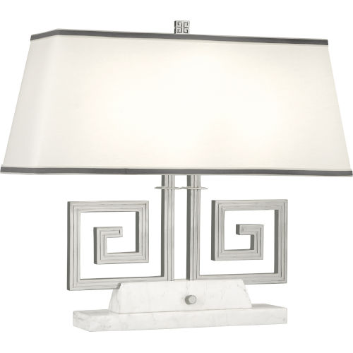 Jonathan Adler Mykonos Polished Nickel Two-Light Table Lamp