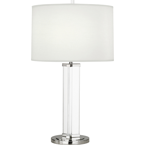Robert Abbey Fineas Clear Glass and Polished Nickel 29-Inch One-Light Table Lamp