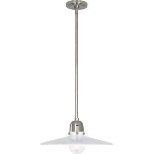 Rico Espinet Arial Antique Silver One-Light Pendant With White Glass