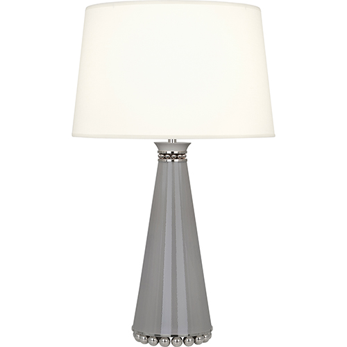 Robert Abbey Pearl Smoky Taupe Lacquered Paint and Polished Nickel Accents 29-Inch One-Light Table Lamp