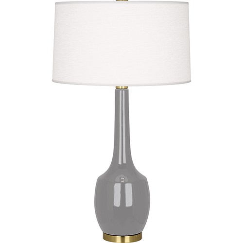 Robert Abbey Delilah Smoky Taupe Glazed Ceramic 34-Inch One-Light Table Lamp