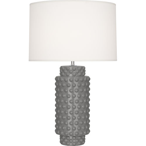 Dolly Smoky Taupe Glazed Textured Ceramic One-Light Table Lamp