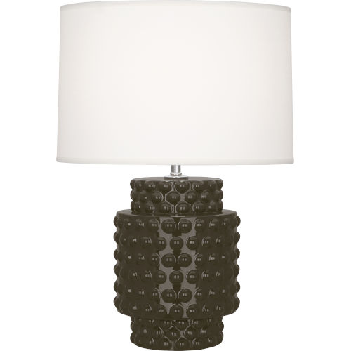 Dolly Brown Tea Glazed Textured Ceramic One-Light Accent Lamp