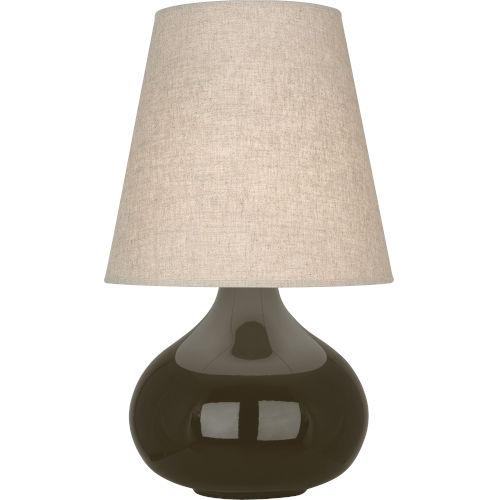 June Brown Tea Glazed Ceramic One-Light Accent Lamp