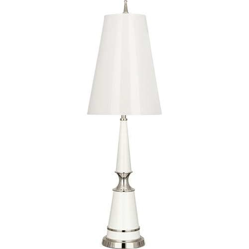 Jonathan Adler Versailles Lily Lacquered Paint with Polished Nickel Accents 33-Inch One-Light Table Lamp