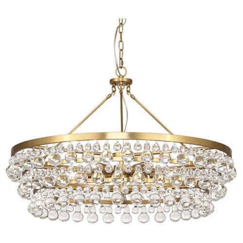 Bling Antique Brass Six-Light Chandelier