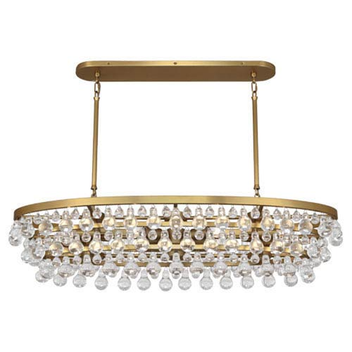 Robert Abbey Bling Antique Brass Eight-Light Chandelier