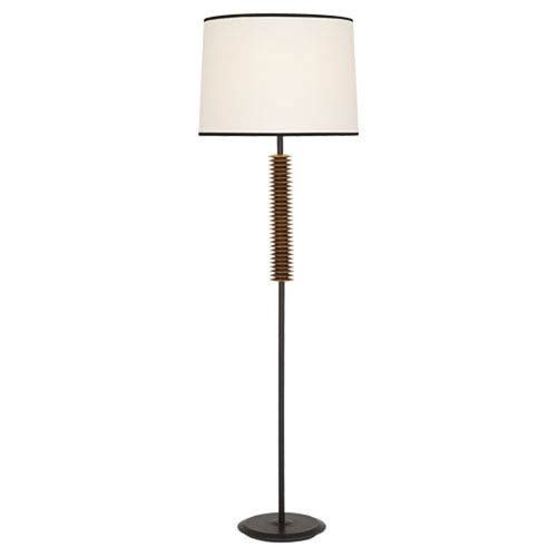 Robert Abbey Rico Espinet Plato Deep Patina Bronze And Antique Brass  One Light Floor Lamp