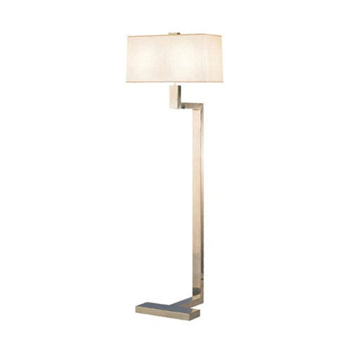 Doughnut Antique Silver Two-Light Floor Lamp