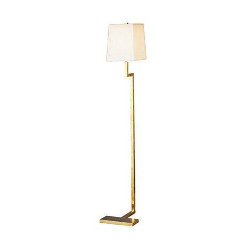 Doughnut Natural Brass One-Light Floor Lamp