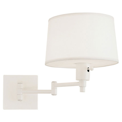 Real Simple Winter White Powder One-Light Wall Swinger