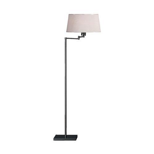Real Simple Gunmetal Powder One-Light Floor Lamp