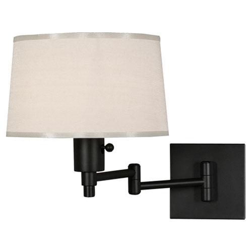 Real Simple Matte Black Powder One-Light Wall Swinger
