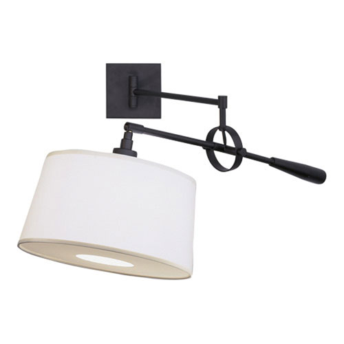 Real Simple Matte Black One-Light Wall Swinger