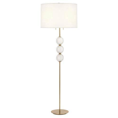 Robert Abbey Hope Brass Two Light Floor Lamp