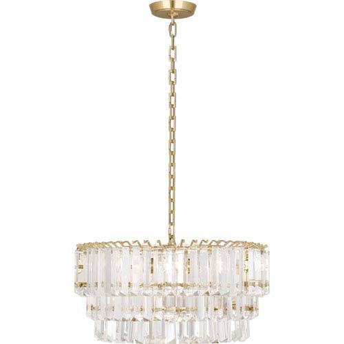 Spectrum Modern Brass Two-Light Chandelier