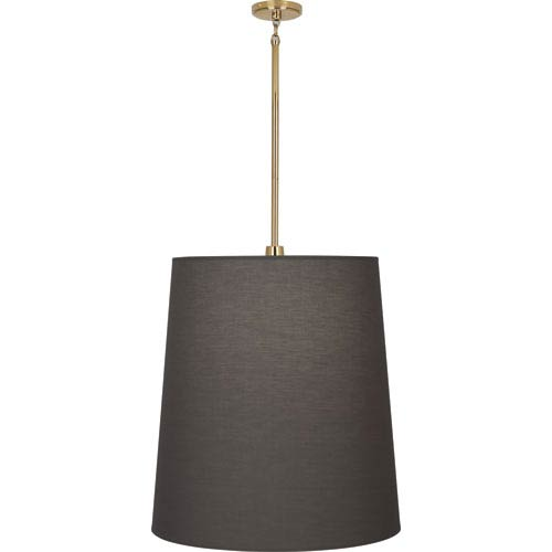 Rico Espinet Buster Polished Brass One-Light Pendant with Smoky Shade