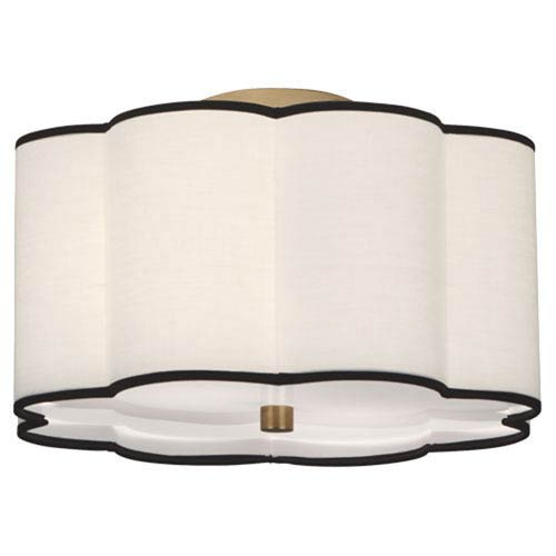 Robert Abbey Axis Aged Br Two Light Flush Mount