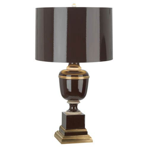 Mary McDonald Annika Brown and Ivory and Brass One-Light Table Lamp
