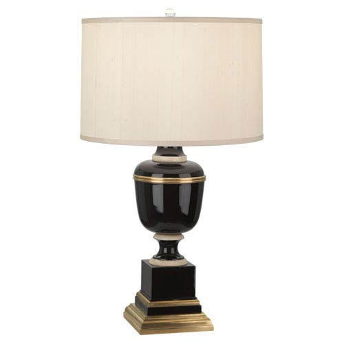Mary McDonald Annika Black and Ivory and Brass One-Light Table Lamp