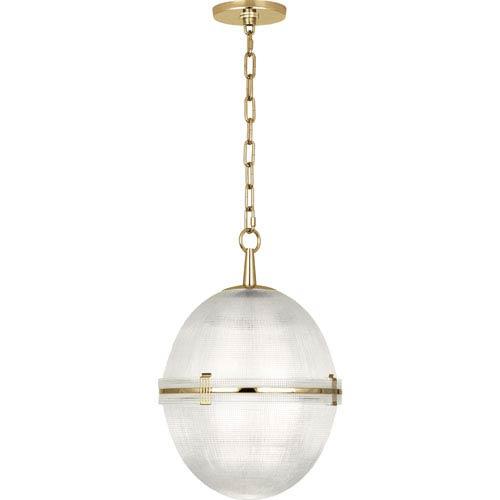 Brighton Modern Brass One-Light Pendant