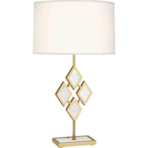 Robert Abbey Edward Modern Brass One Light 29 Inch Marble Table Lamp