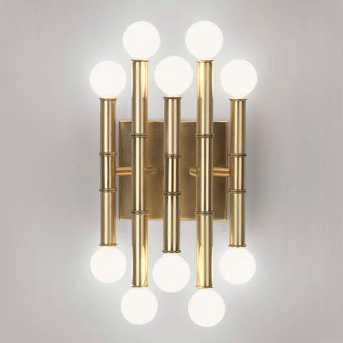 Jonathan Adler Meurice Antique Brass Ten-Light Sconce
