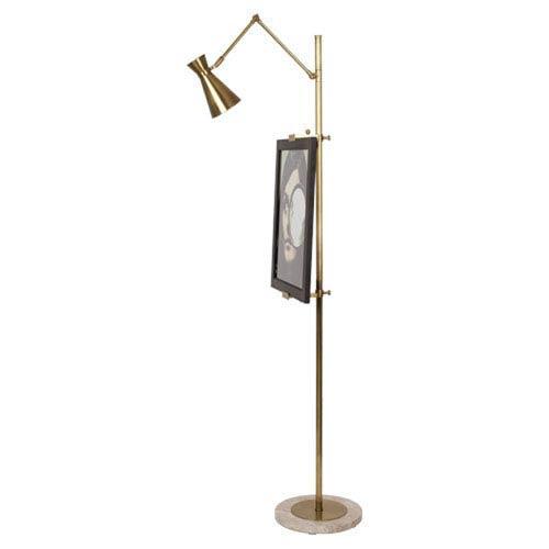 Jonathan Adler Bristol Antique Brass One-Light Floor Lamp