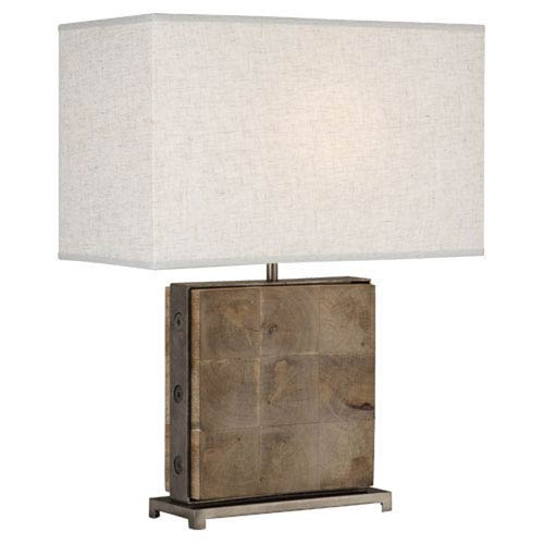 Oliver Natural Mango Wood and Patina Nickel One-Light Table Lamp