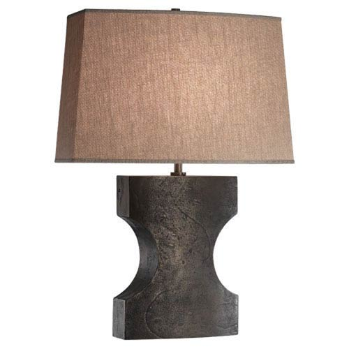 Oren Electrochemical Phosphatized Iron One-Light Table Lamp