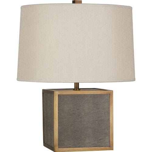 Robert Abbey Anna Aged Brass One-Light 20-Inch Faux Snakeskin Table Lamp