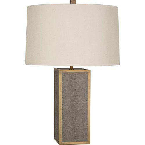 Anna Aged Brass One-Light 28-Inch Faux Snakeskin Table Lamp