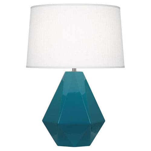 Delta Peacock and Polished Nickel One-Light Table Lamp