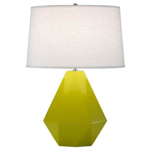 Delta Apple and Polished Nickel One-Light Table Lamp