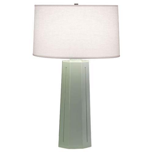 Mason Celadon and Polished Nickel One-Light Table Lamp