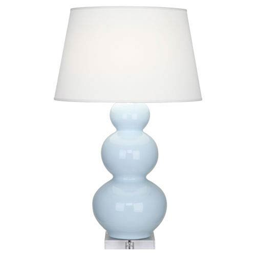 Triple Gourd Baby Blue One-Light Table Lamp