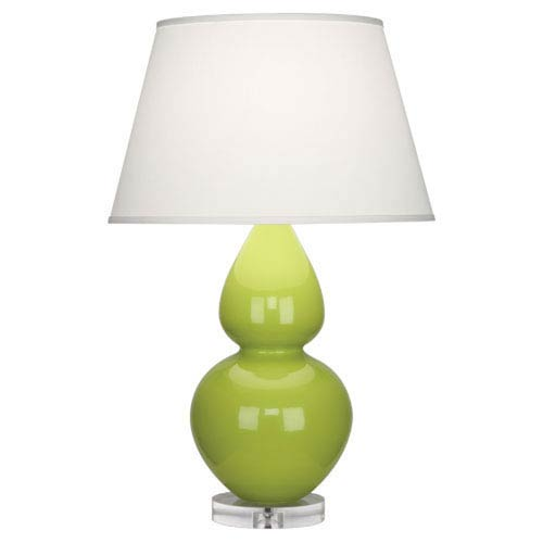 Double Gourd Apple One-Light Table Lamp with Empire Shade