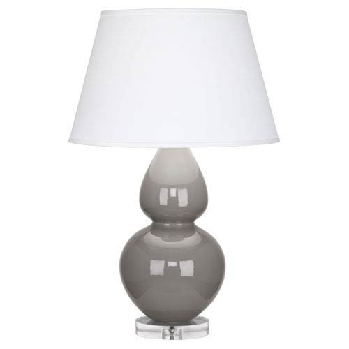 Double Gourd Smokey Taupe One-Light Table Lamp with Empire Shade