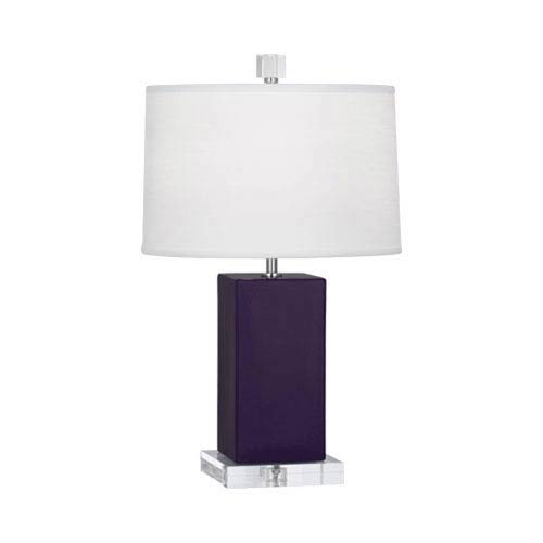 Harvey Amethyst and Acrylic and Polished Nickel 19-Inch One-Light Table Lamp