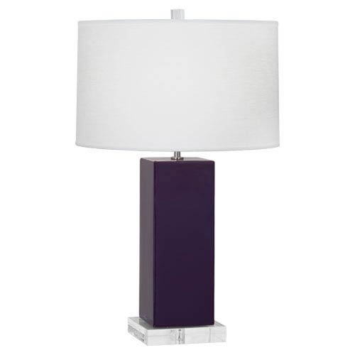 Harvey Amethyst and Acrylic and Polished Nickel 33-Inch One-Light Table Lamp