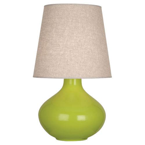June Apple One-Light Table Lamp with Buff Linen Shade
