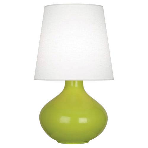 June Apple One-Light Table Lamp with Oyster Linen Shade