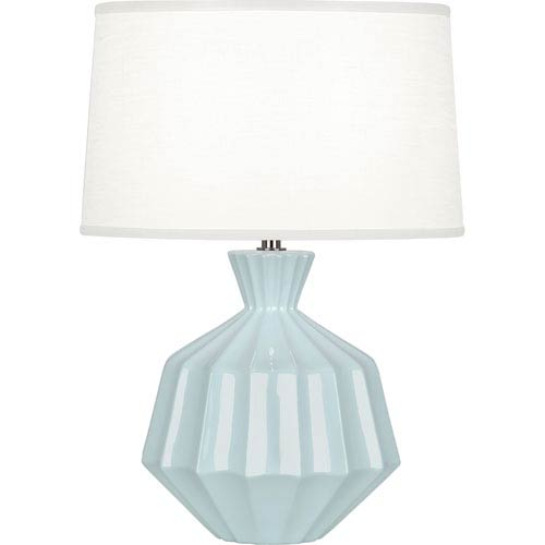 Orion Baby Blue One-Light 17-Inch Ceramic Table Lamp