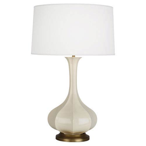 Robert Abbey Pike Bone and Aged Brass One-Light Table Lamp
