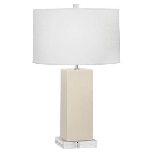 Harvey Bone and Acrylic and Polished Nickel 33-Inch One-Light Table Lamp