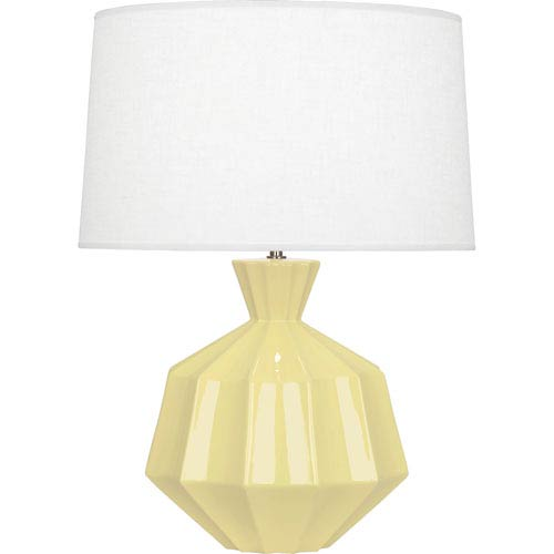 Robert Abbey Orion Butter Yellow One-Light 27-Inch Ceramic Table Lamp