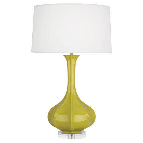 Pike Citron and Polished Nickel One-Light Table Lamp